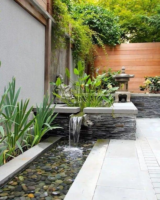 Favorit tukang taman minimalis mojokerto dengan suara percikan air